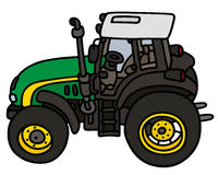 Green tractor Royalty Free Stock Photos