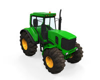 Green Tractor Isolated Royalty Free Stock Photos