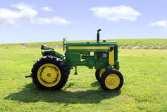 Green tractor Royalty Free Stock Images