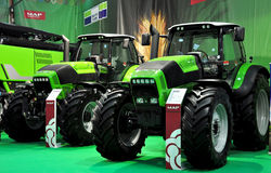Green Tractors Royalty Free Stock Image