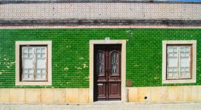 Green traditional Portuguese house Royalty Free Stock Photos