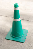 Green Traffic Cone On Street Stock Images