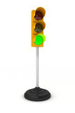 Green traffic light Royalty Free Stock Image