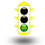 Green traffic light Stock Photography