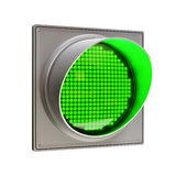 Green traffic light. Isolated on white Royalty Free Stock Photo
