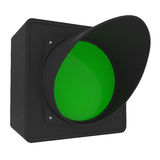 Green Traffic Light isolated on white Stock Photography