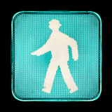 Green traffic light, for pedestrians Royalty Free Stock Photography