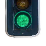 Green traffic light - road sign Stock Photos