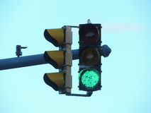 Green traffic light in USA Royalty Free Stock Image