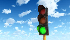 Green Traffic Lights Stock Photos