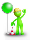 Green traffic sign Royalty Free Stock Image