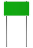 Green Traffic Sign isolated on white. 3d illustration Stock Photos