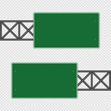 Green traffic sign,Road board signs isolated on transparent background. Vector illustration EPS 10 royalty free illustration