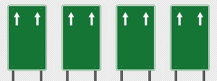 symbol Green traffic sign,Road board signs isolated on transparent background. Vector illustration EPS 10 vector illustration