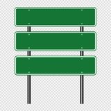 symbol Green traffic sign,Road board signs isolated on transparent background. Vector illustration EPS 10 royalty free illustration