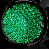 Green trafice light up close Royalty Free Stock Image