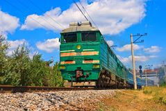 Green train Stock Photography