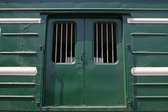 Green train cars Royalty Free Stock Image