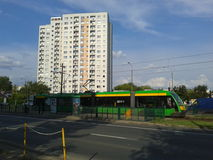 Green tram Royalty Free Stock Photos