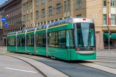 Green tram Royalty Free Stock Image