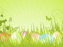 Green Tranquil Easter Background Royalty Free Stock Images