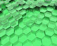 Green Translucent Hexagons Stock Image