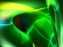 Green transparent 3d abstract. Glowing green transparent liquid or glass style absract Royalty Free Stock Photography
