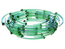 Green transparent arrows wreath 3D. Render illustration isolated on white background Royalty Free Stock Images