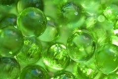 Green transparent balls Stock Images