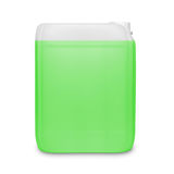 Green transparent cleaning supply product container isolated on white Stock Images