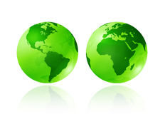 Green transparent globes Royalty Free Stock Photos
