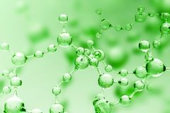 Free Green Transparent Molecule Model Over Green Royalty Free Stock Photo - 126205355
