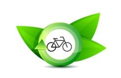 Green transportation bike concept illustration Royalty Free Stock Image
