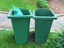 Green trash bins Stock Photography