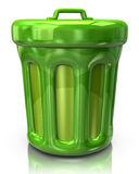Green trash can icon Stock Photo