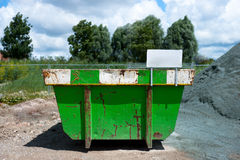 Green trash container Royalty Free Stock Photo