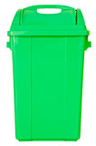 Green trash on isolated white background Stock Photos