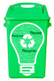 Green trash on isolated white background Stock Photo