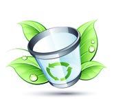 Green trashcan Stock Image