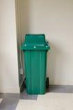 Green trashcan Stock Photo