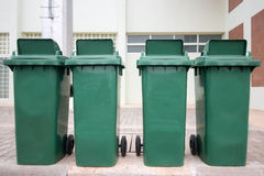 Green trashcan Royalty Free Stock Photos