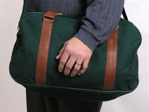 Green travel luggage 4 Royalty Free Stock Images