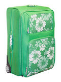 Green travel suitcase Royalty Free Stock Photography