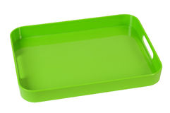 Green tray. Isolated Royalty Free Stock Photography