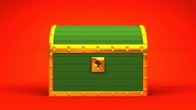 Green Treasure Chest stock video