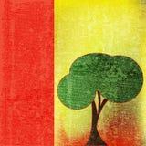 Green Tree. Environmental Paper Background Illustration vector illustration