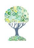 Green tree. Abstract green tree. Vector illustration Stock Photo