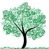 Green Tree. Abstract illustration of a green tree Royalty Free Stock Image