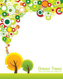 Green tree concept. Great idea of environmentally friendly concept background for your website, powerpoint, leaflet etc Stock Images