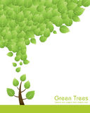 Green tree concept. Great idea of environmentally friendly concept background for your website, powerpoint, leaflet etc Royalty Free Stock Photo